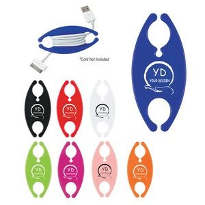 Plastic Cord Wrap/Earphone Organizer with Custom Logo