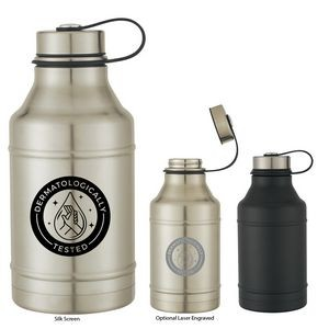 64 Oz. Wide-Mouth Stainless Steel Growler